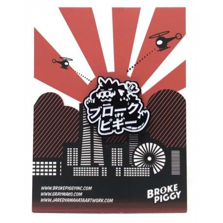 Broke Piggy Kaiju Pin